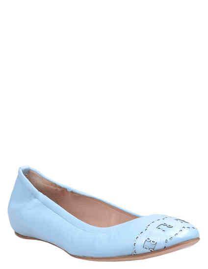 женские голубые Балетки Casadei 135_blue - фото-2