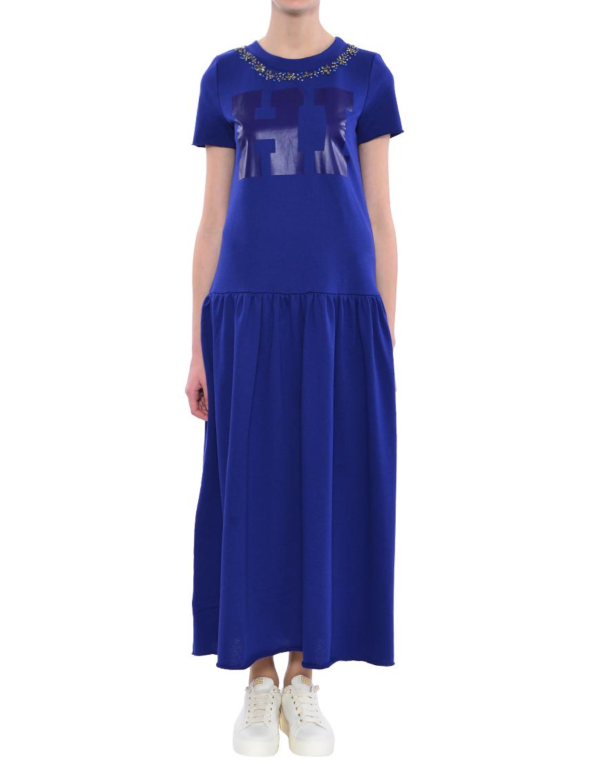 Купить Платье, TWIN-SET, Синий, 66%Хлопок 34%Полиэстер, Весна-Лето