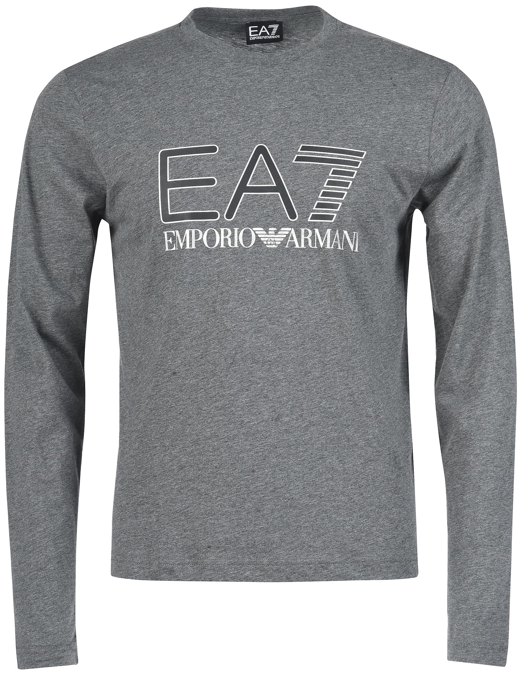 Купить Футболки с рукавом, Футболка, EA7 EMPORIO ARMANI, Серый, 100%Хлопок, Осень-Зима