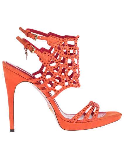 оранжевые женские Босоножки Cesare Paciotti 430610_orange 4044 грн