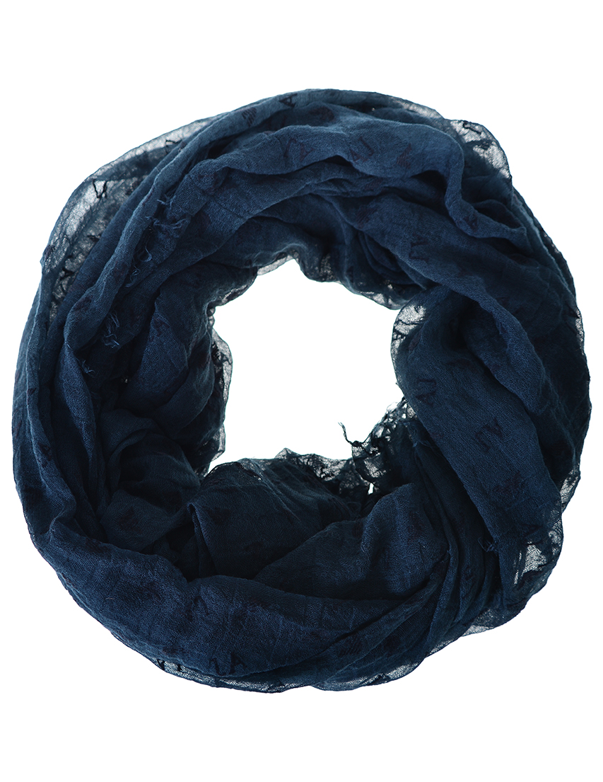 Женский шарф ARMANI JEANS 924068-logo_blue