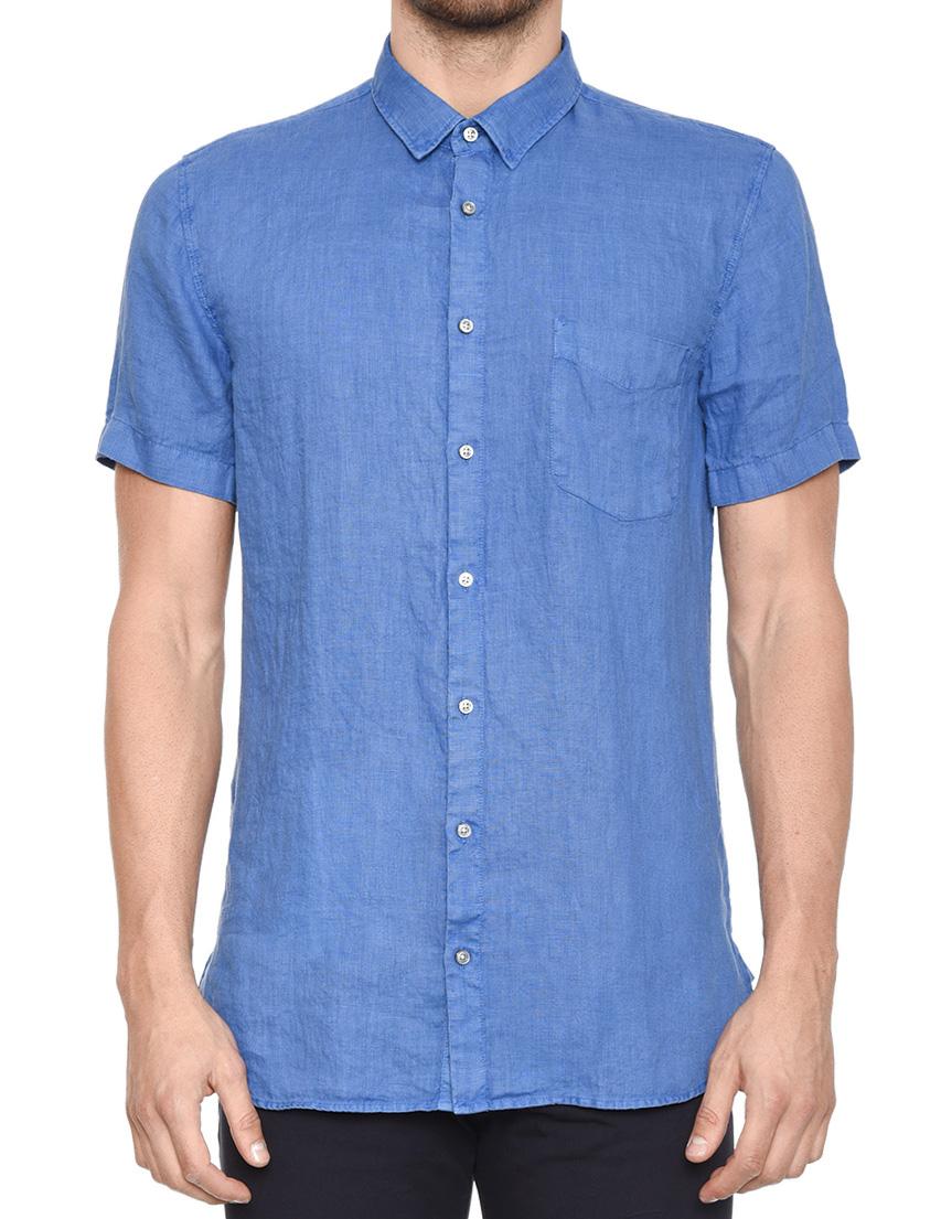 Купить Рубашка, HUGO BOSS, Синий, 100%Лен, Весна-Лето