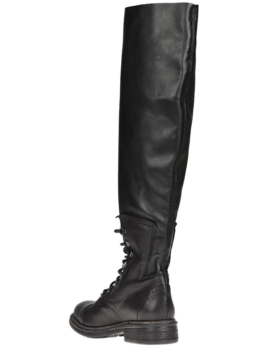 Фото 3 - женские ботфорты NOW черного цвета