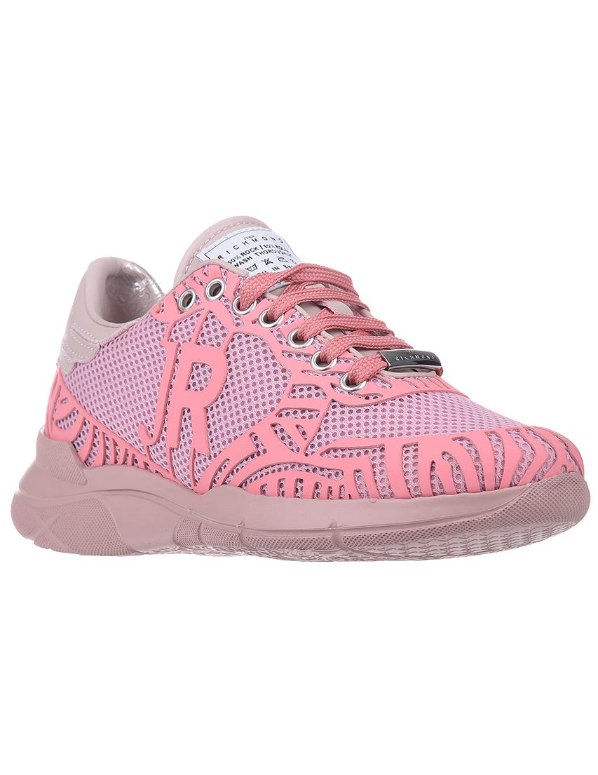 Текстильные розовые кроссовки JOHN RICHMOND (ITALY)