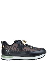 Детские кроссовки для девочек Moschino 25586-tmoro-nero-lettere-oro_black