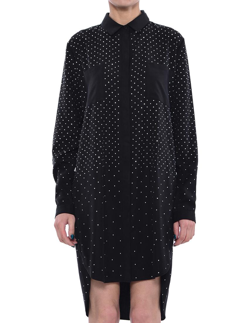 Платье, TWIN-SET, Черный, 100%Лиоцел, Весна-Лето  - купить со скидкой
