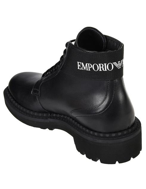мужские черные Ботинки Emporio Armani X4M328-XM071-D267 - фото-2