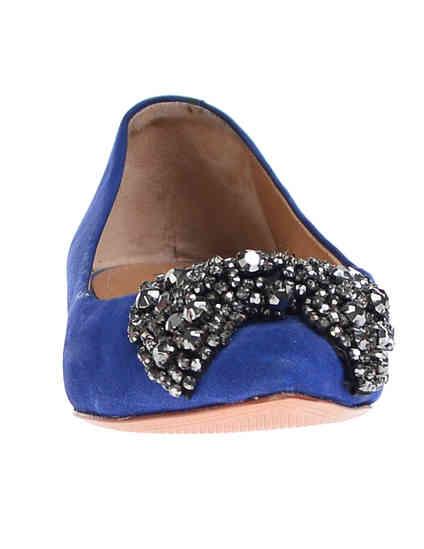 женские синие Балетки Schutz 1622_blue - фото-6
