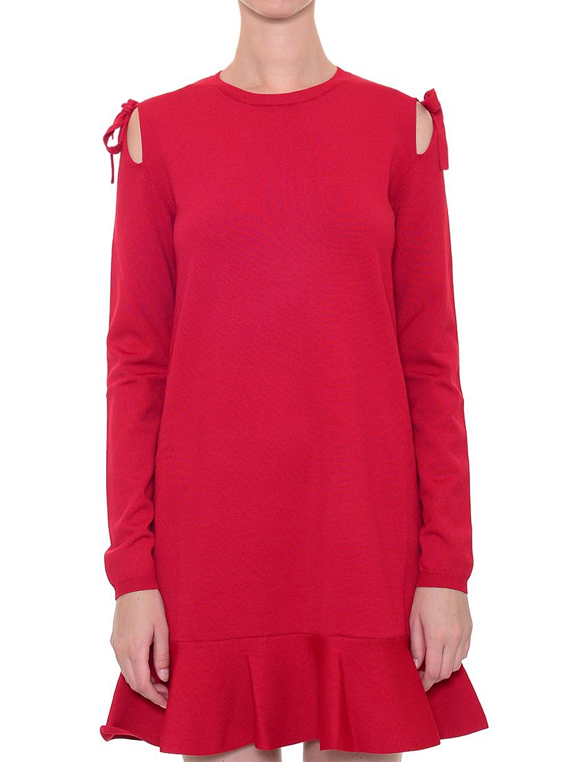 Купить Платье, RED VALENTINO, Красный, 75%Вискоза 25%Полиамид, Осень-Зима