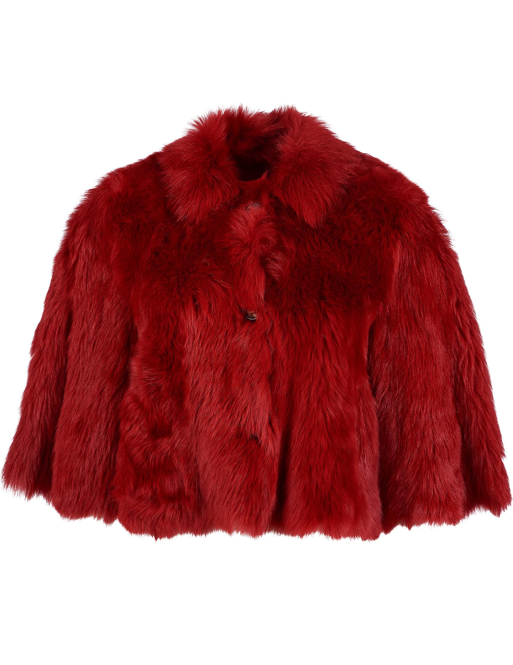 Купить Шубы, Шуба, RED VALENTINO, Красный, 100%Мех;100%Хлопок, Осень-Зима