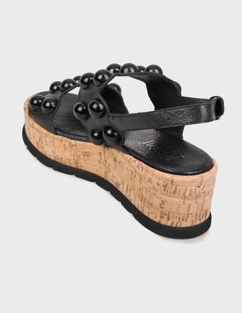 женские черные Босоножки Pertini 201W16693D1 - фото-2