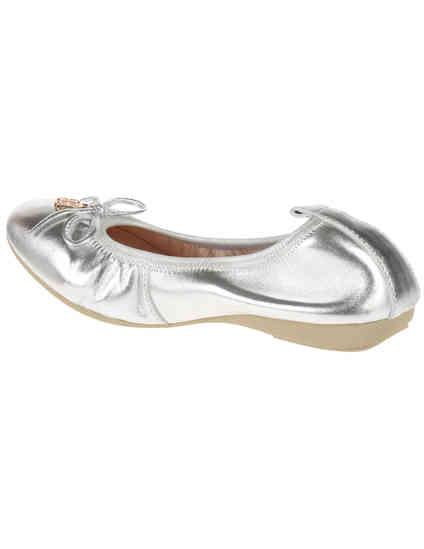 серебряные женские Балетки Gianni Renzi 1100_silver 4845 грн