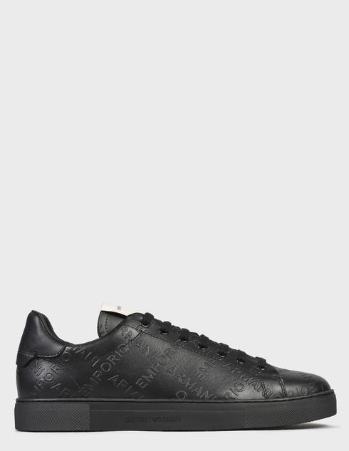 мужские черные Кеды Emporio Armani X4X554XM994-K001 - фото-6