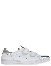 Детские кроссовки для девочек Naturino Lenny-argento-bianco_white
