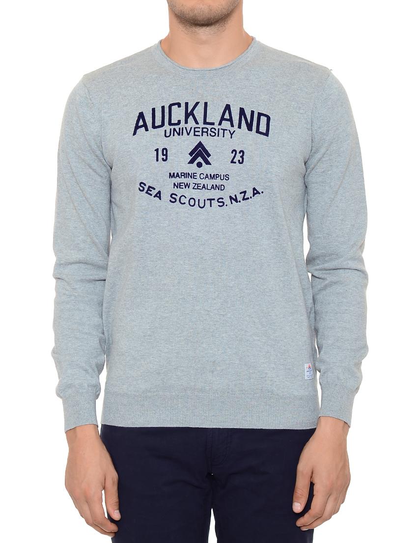 Купить Джемпер, NEW ZEALAND AUCKLAND, Серый, 100%Хлопок, Весна-Лето