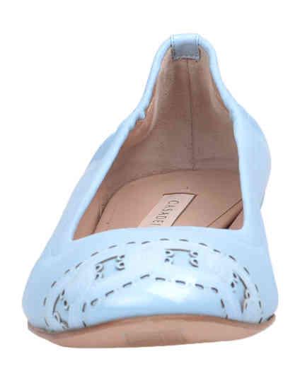женские голубые Балетки Casadei 135_blue - фото-6