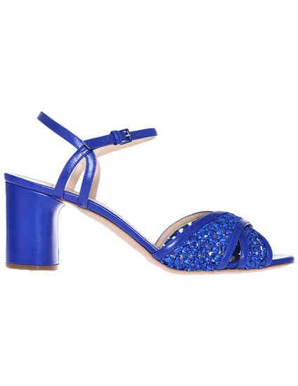 женские синие Босоножки Casadei 362_blue - фото-7
