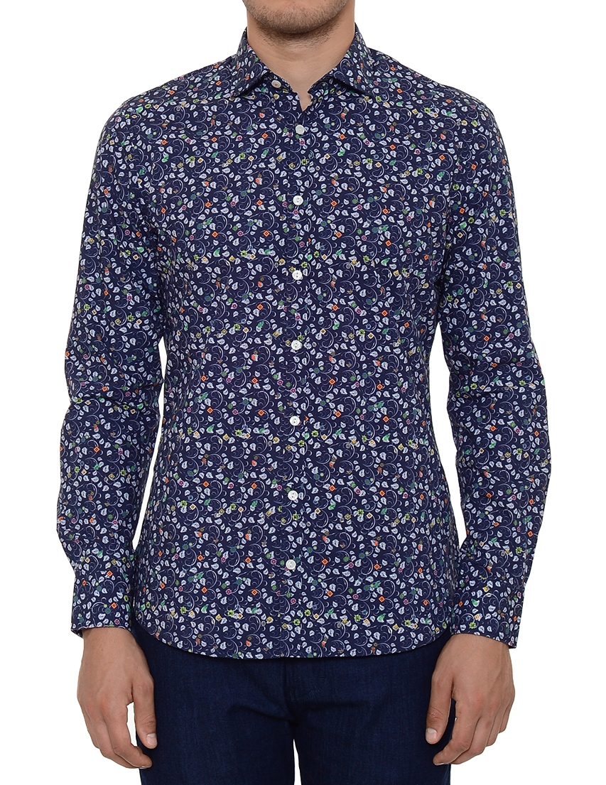 Купить Рубашки, Рубашка, NEW ZEALAND AUCKLAND, Синий, 100%Хлопок, Весна-Лето