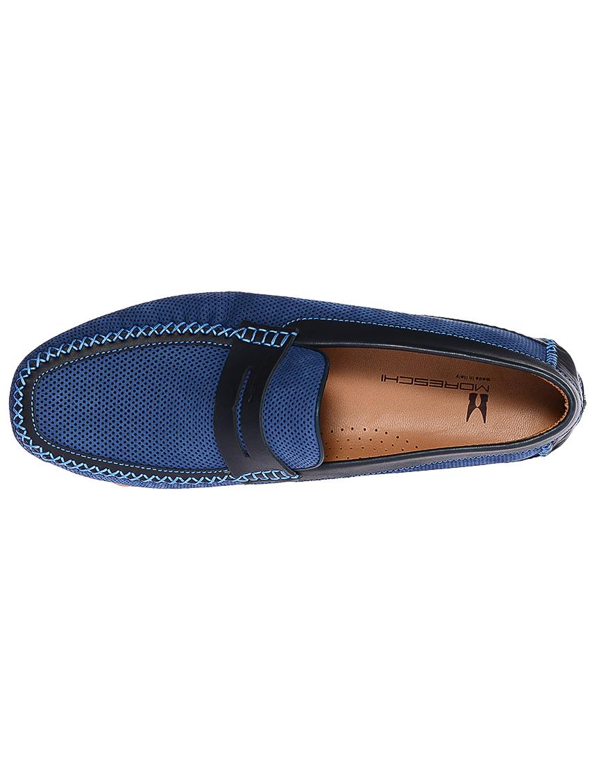 Фото 5 - мужские мокасины  синего цвета