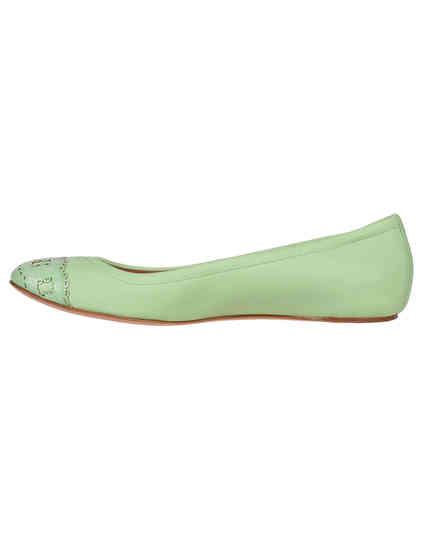 зеленые Балетки Casadei 132_green размер - 40