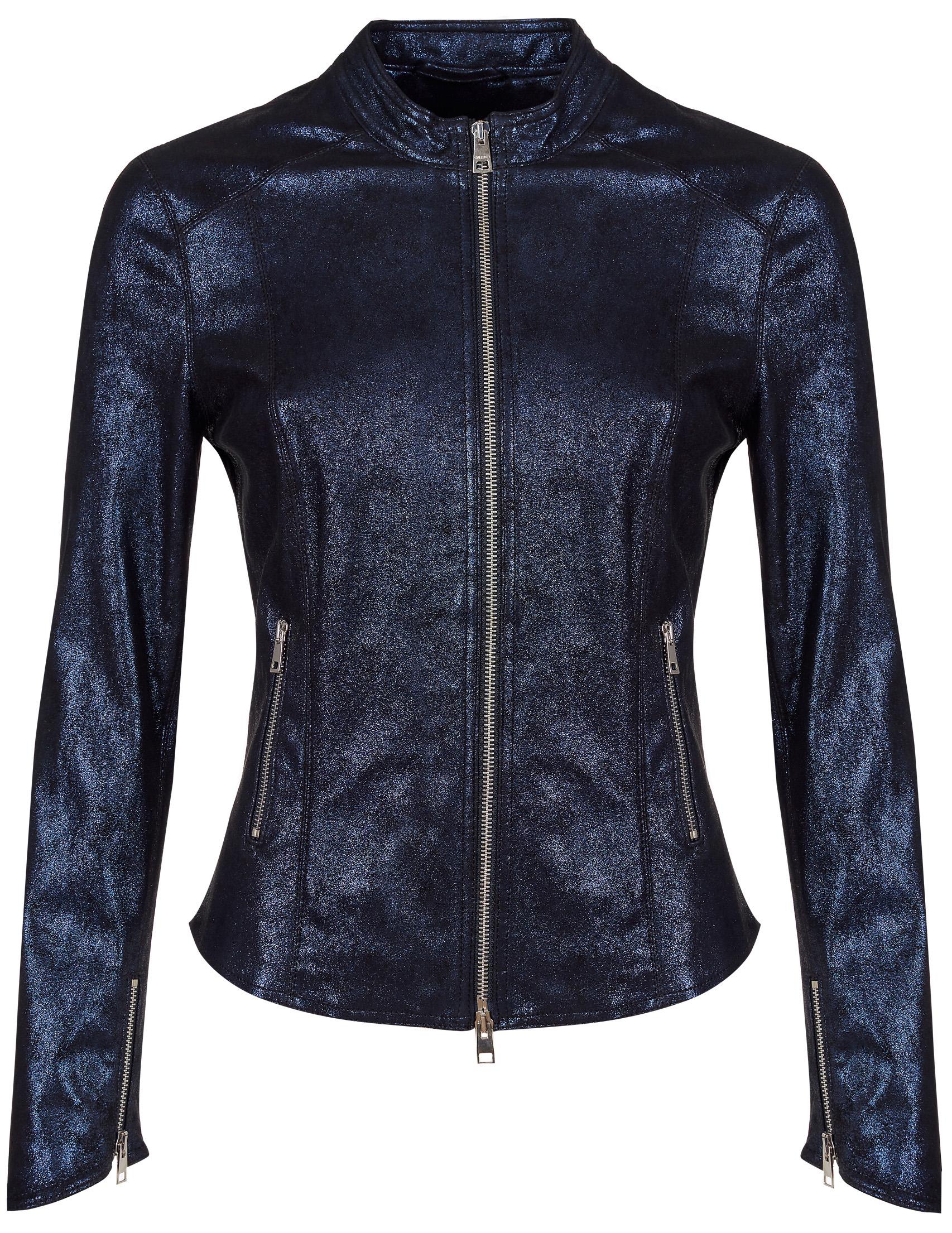 Купить Куртки, Куртка, GALLOTTI, Синий, 100%Кожа, Осень-Зима