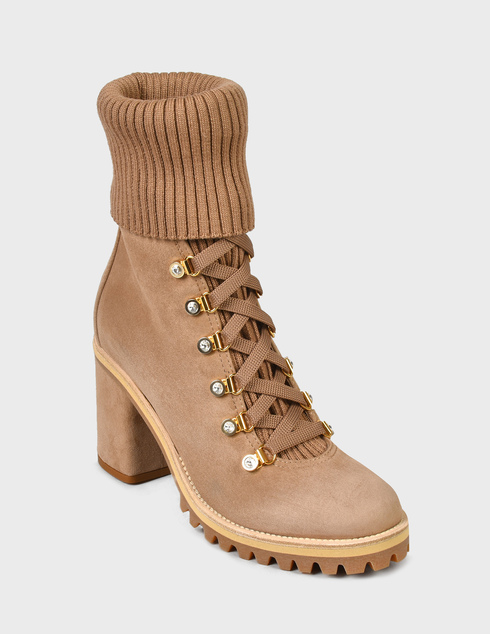 женские бежевые Ботинки Le Silla 7406R080 - фото-2