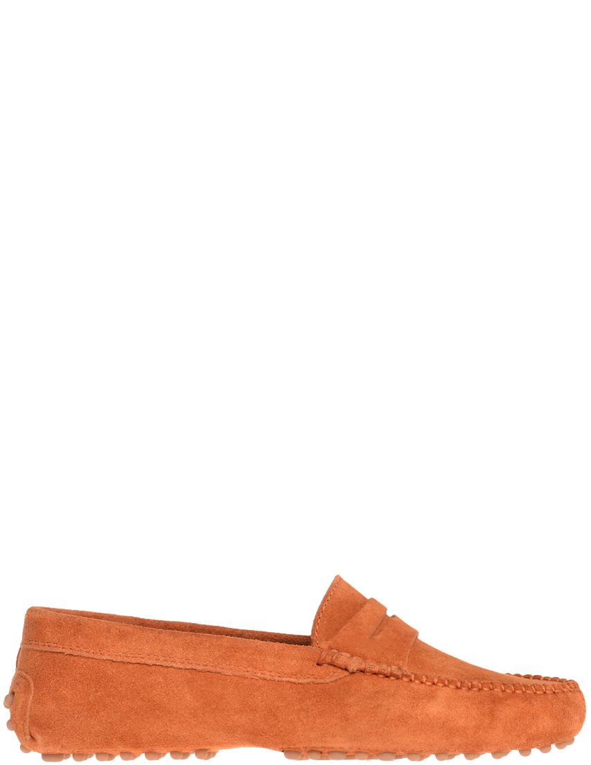 Купить Мокасины, GIANROS, Оранжевый, Весна-Лето