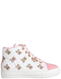 Детские кеды для девочек Moschino 25904-rosa-bianco-бело-white