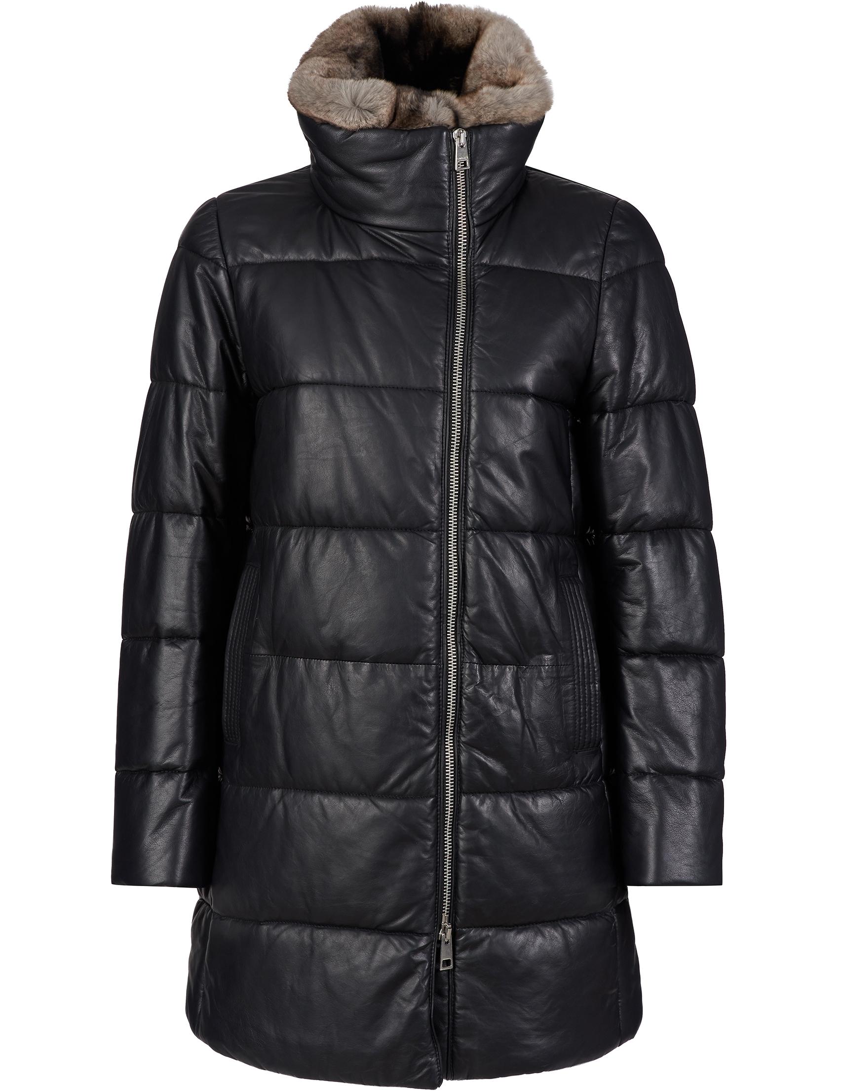 Купить Куртки, Куртка, GALLOTTI, Черный, 100%Полиэстер;100%Кроличий мех, Осень-Зима