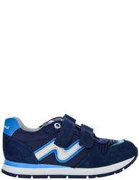 Детские кроссовки для мальчиков Naturino Bomba-vellour-navy_blue