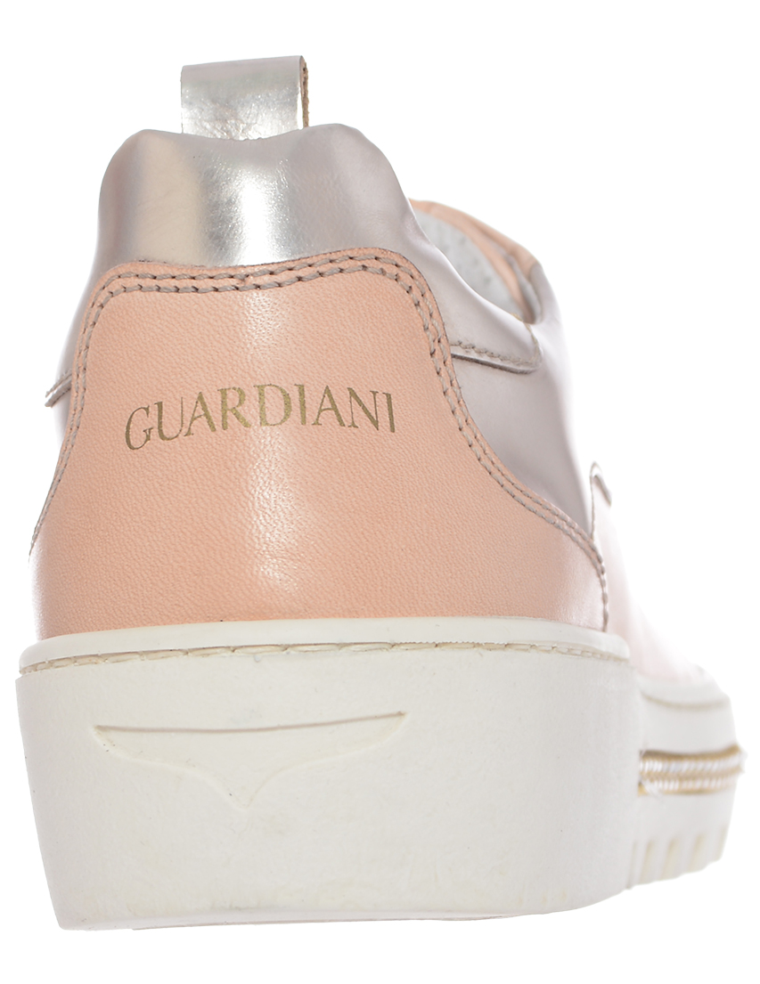 Кожаные бежевые кроссовки ALBERTO GUARDIANI (ITALY)