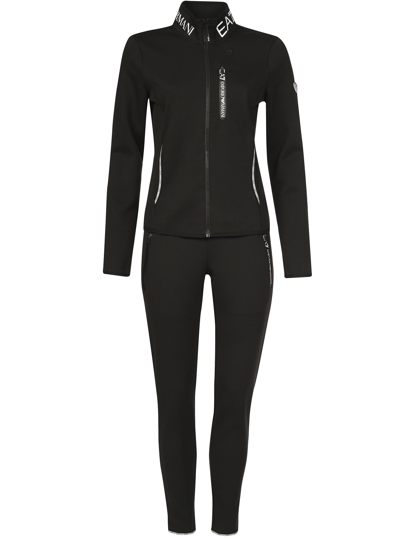 Купить Спортивный костюм, EA7 EMPORIO ARMANI, Черный, 69%Хлопок 31%Полиэстер, Осень-Зима