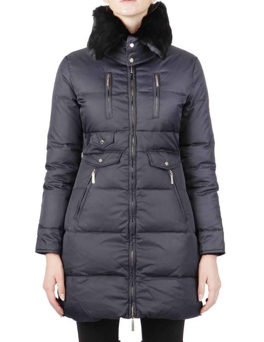 Купить Куртки, Куртка, ELISABETTA FRANCHI, Черный, 100%Полиамид, Осень-Зима