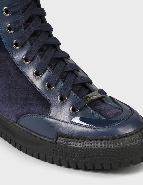 женские синие Ботинки Baldinini D2BS03VIVC1515 - фото-6