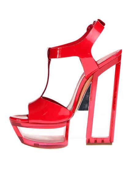 женские красные лакированные Босоножки Casadei 3088_red - фото-5