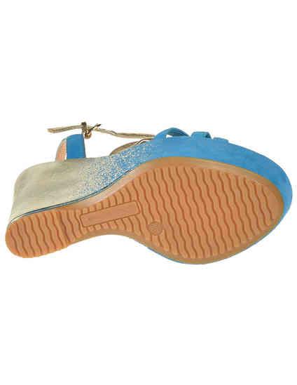 женские голубые замшевые Босоножки Donna Piu 51141_blue - фото-5