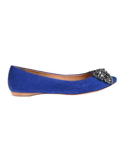 синие женские Балетки Schutz 1622_blue 5372 грн