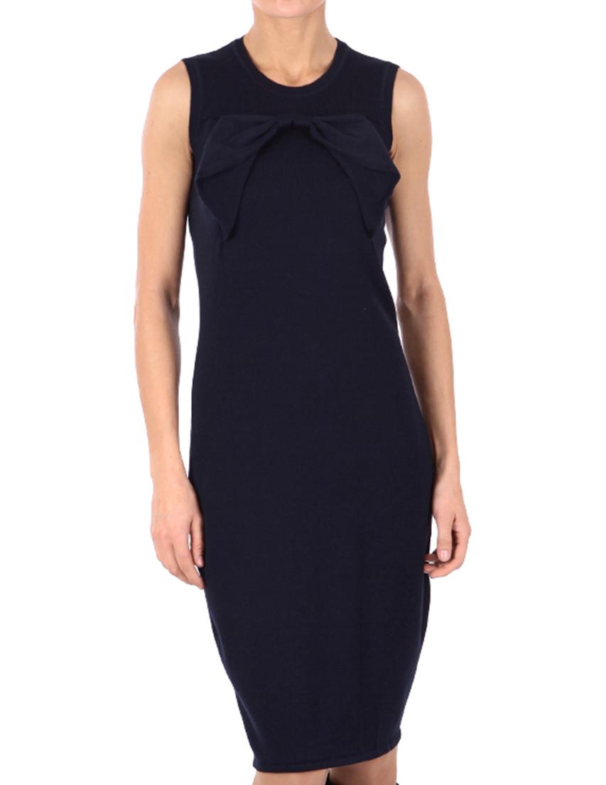 Купить Платье, RED VALENTINO, Синий, 100%Шерсть, Осень-Зима