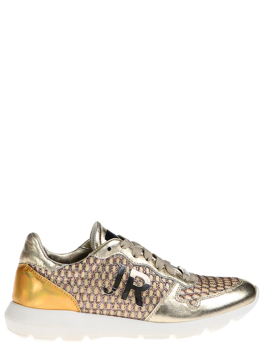 Кожаные золотые кроссовки JOHN RICHMOND (ITALY)