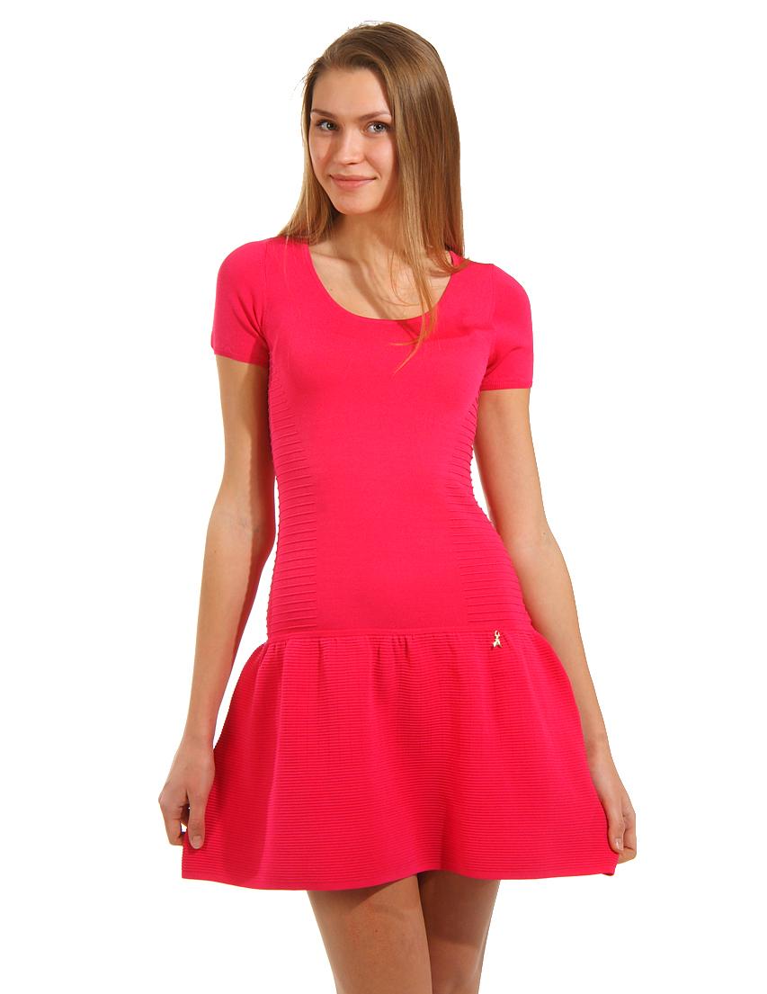 Купить Платье, PATRIZIA PEPE, Розовый, 80%Вискоза 20%Полиамид, Весна-Лето
