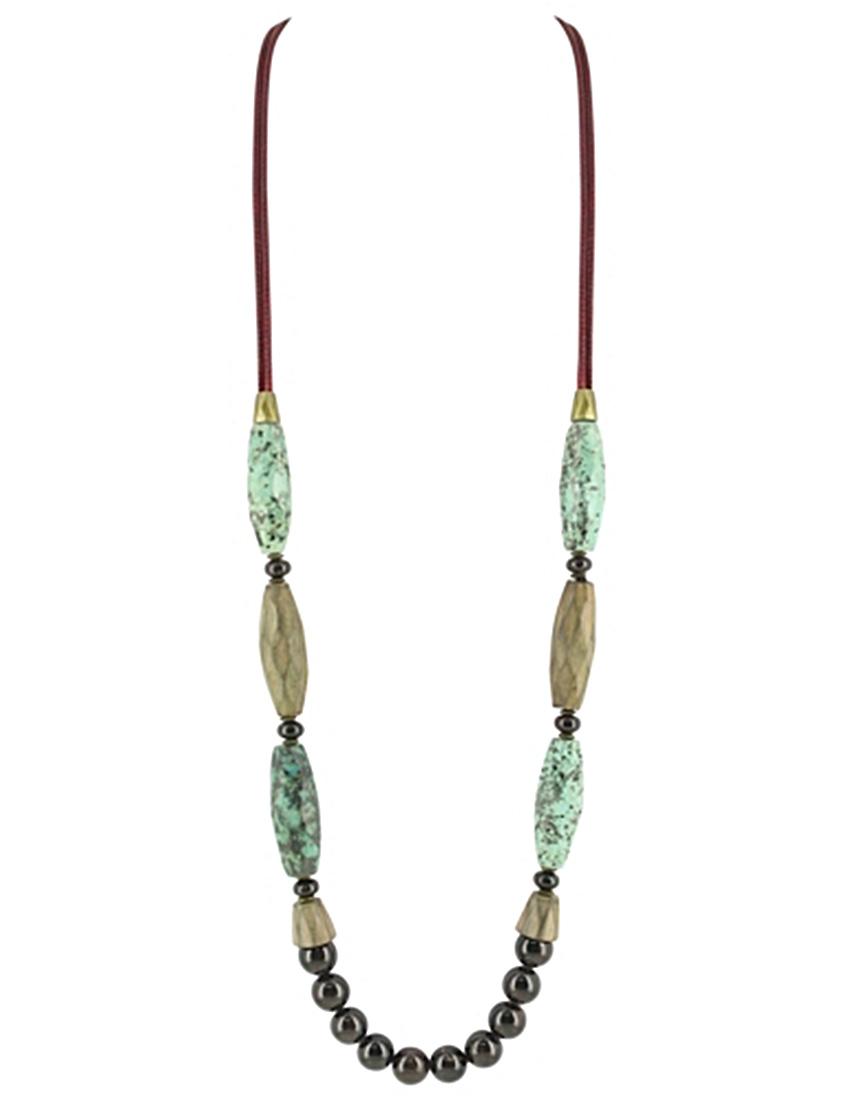 Купить Ожерелье, NATURE BIJOUX, Бирюзовый, Осень-Зима