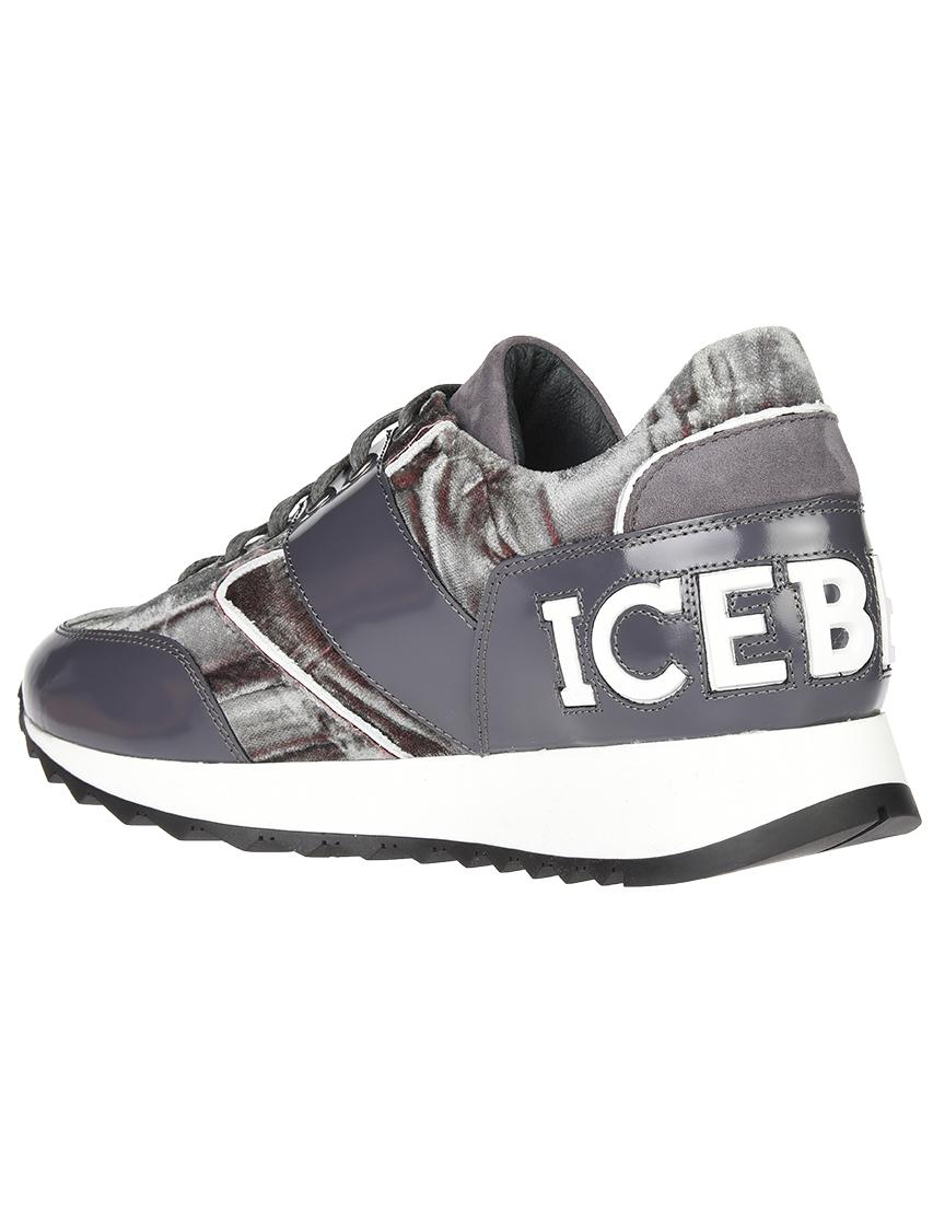 Кожаные серые кроссовки ICEBERG (ITALY)