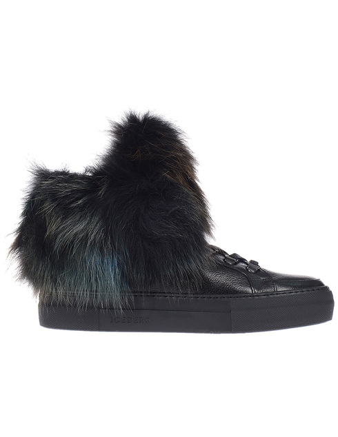 женские черные кожаные Ботинки Iceberg ID1097A - фото-5