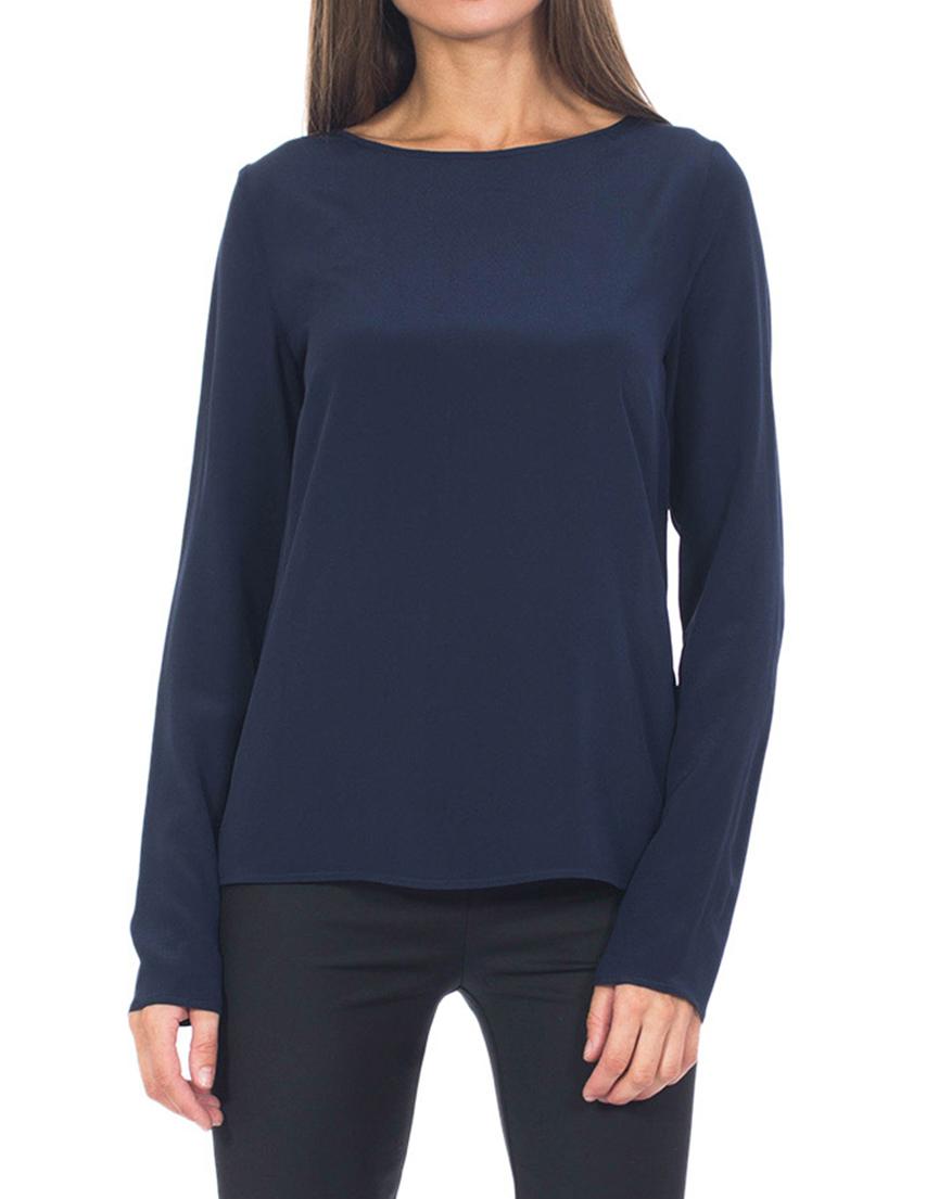 Купить Блуза, PATRIZIA PEPE, Синий, 100%Шелк, Осень-Зима