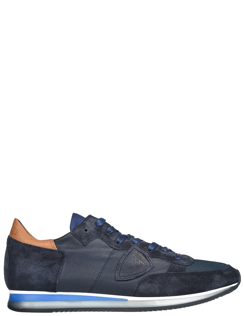 Мужские кроссовки Philippe Model WZ15_blue