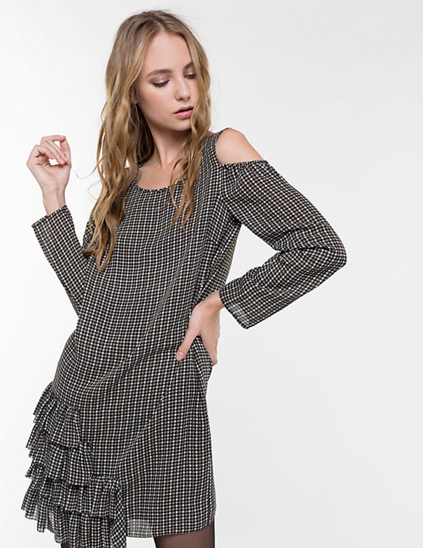 Купить Платье, PATRIZIA PEPE, Зеленый, 100%Полиэстер, Осень-Зима