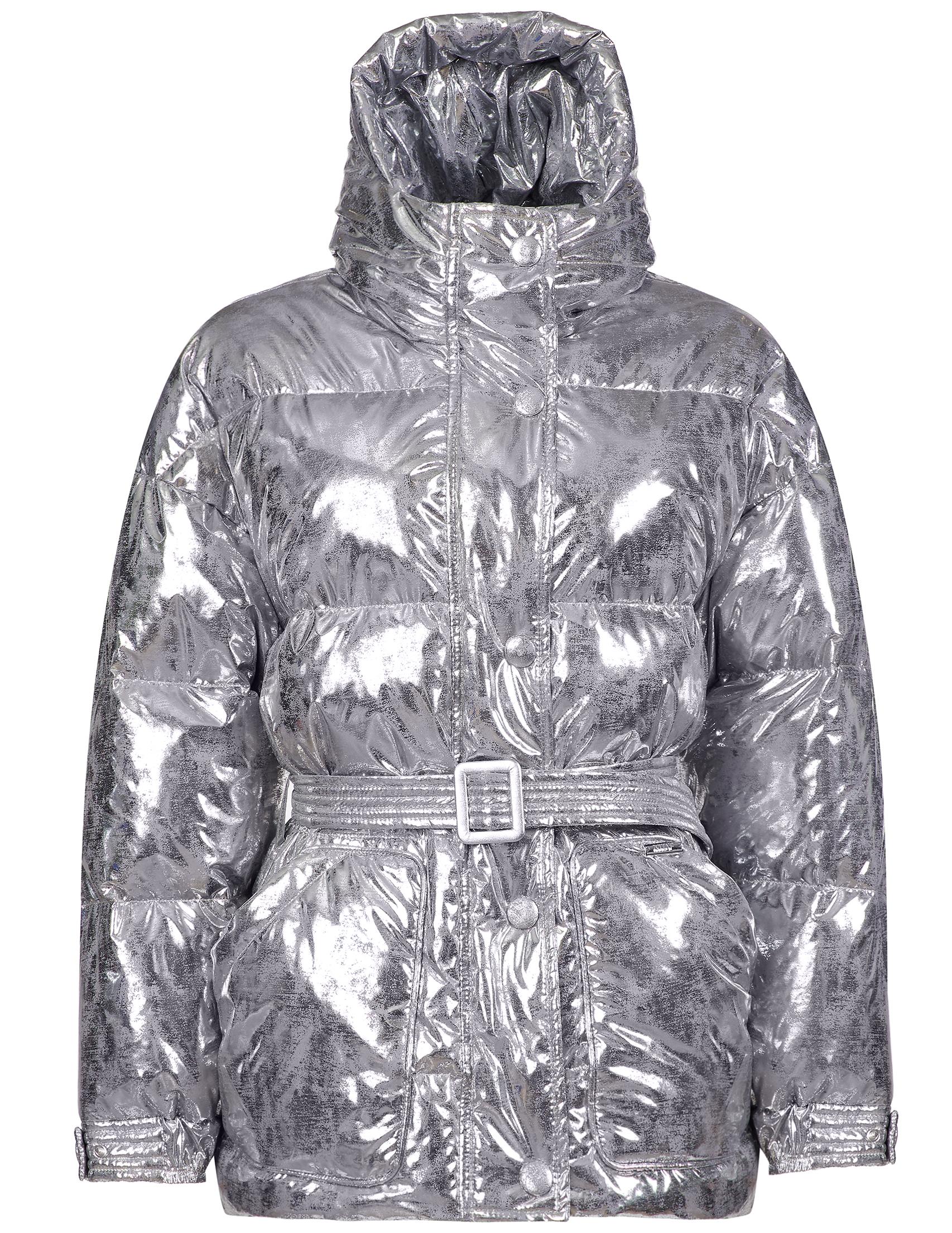 Купить Куртки, Куртка, MARCO DEL FORTE, Серебряный, 100%Полиэстер, Осень-Зима