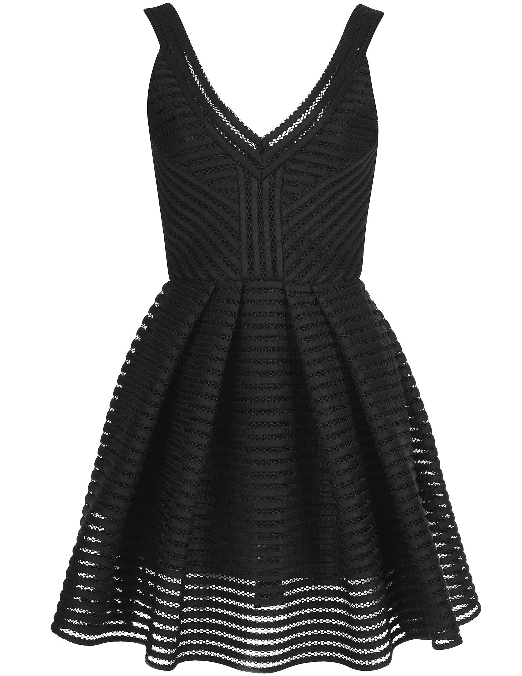 Купить Платье, PHILIPP PLEIN, Черный, 100%Полиэстер, Осень-Зима