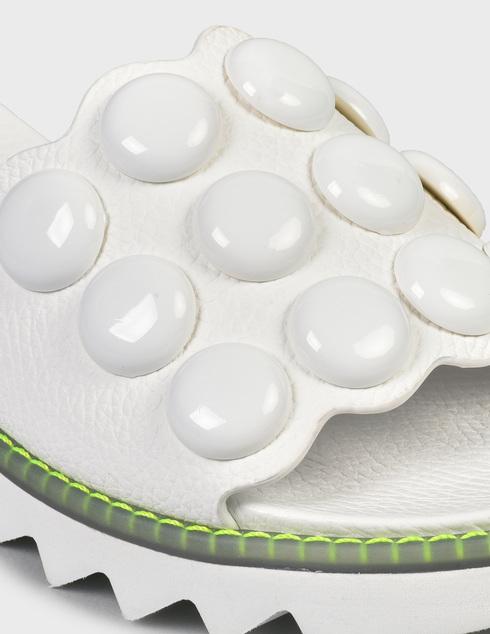 женские белые кожаные Шлепанцы Pertini 211W30822D1 - фото-5