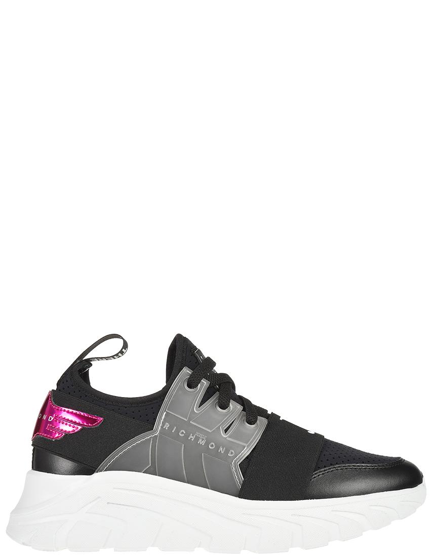Текстильные чёрные кроссовки JOHN RICHMOND (ITALY)